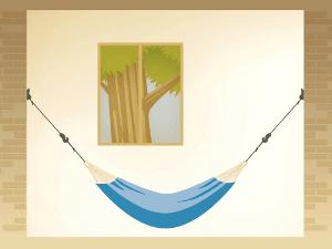Accroche du hamac : la position de la banane