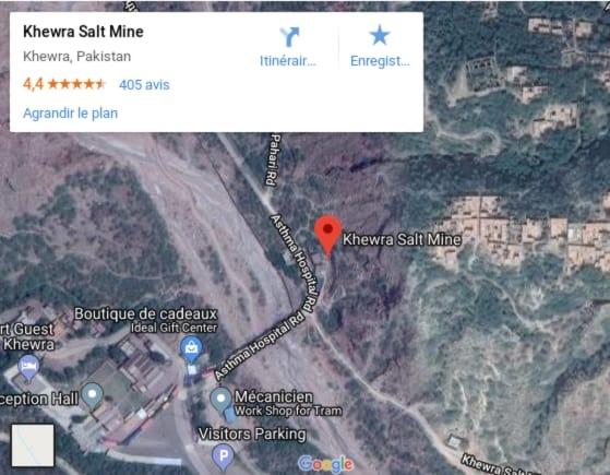 Plan de la Mine de Sel de Khewra