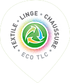 Logo Eco TLC, signalant un point d'apport de vêtements en confiance