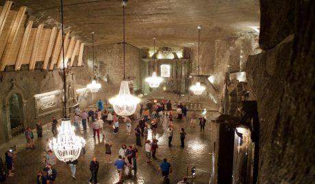 Photo de l'intérieur de la Mine de Sel de Wielicaka en Pologne