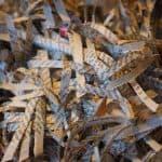 Papiers confidentiels recyclés en fines bandes